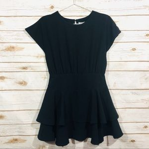 Habitual girl black short sleeve mini dress